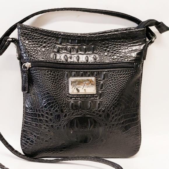 Handbags - Marc Fisher Croc Crossbody LIKE NEW!